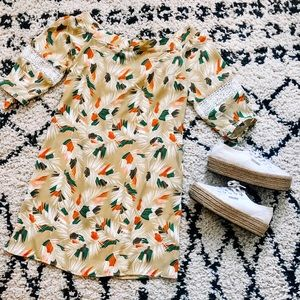 Banana Republic Off The Shoulder Printed Dress